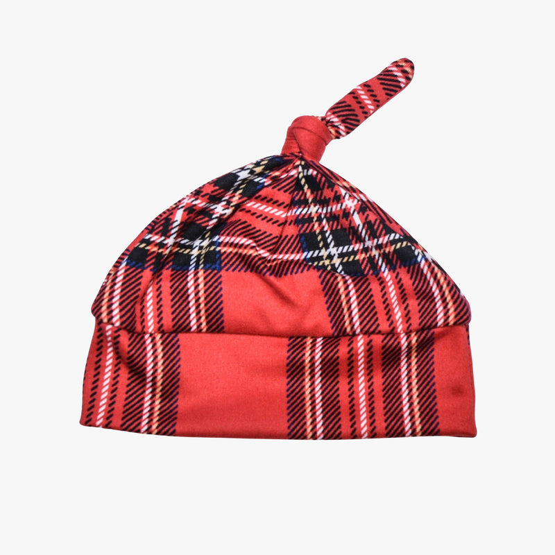 Red Plaid- Beanie