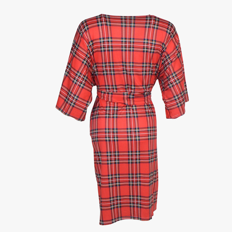 Red Plaid - Robe and Swaddle Set