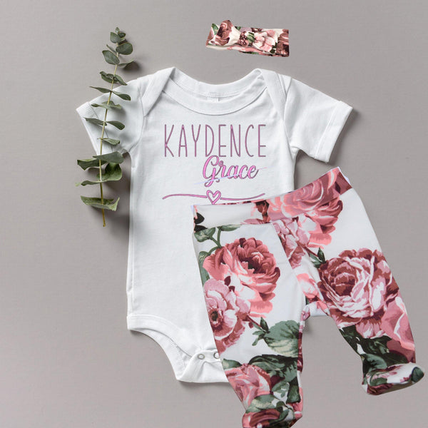 Allie - Baby Girl Coming Home Outfit
