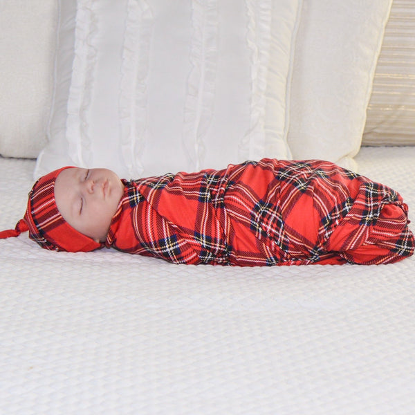 Christmas Plaid - Swaddle Blanket Set