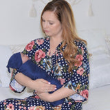 Colette & Navy - Robe and Swaddle Set