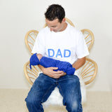 DAD Shirt - White & Royal Blue