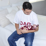 DAD Shirt - White & Burgundy