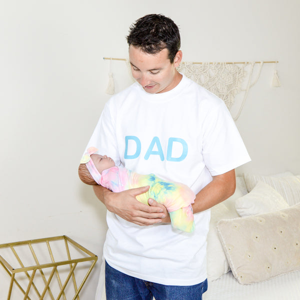 DAD Shirt - White & Teal