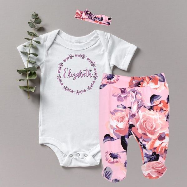 Elizabeth - Baby Girl Coming Home Outfit