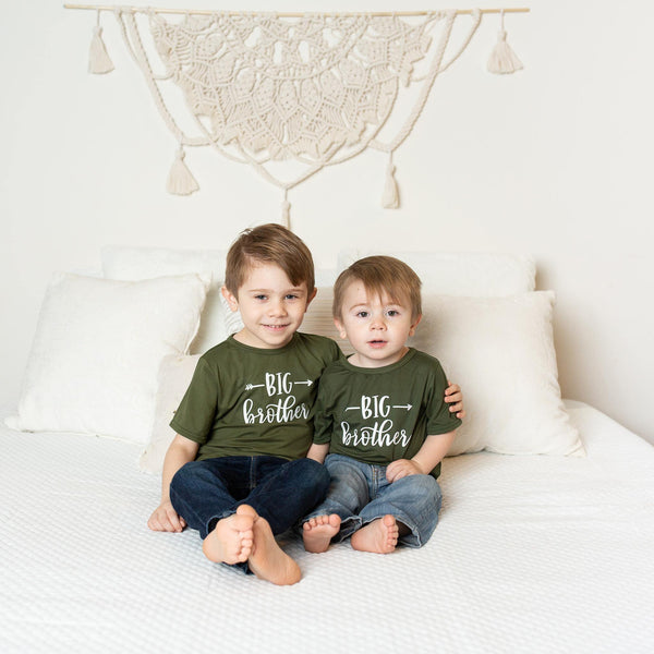 Big Brother Shirt - Hunter Green - Kins & Kay