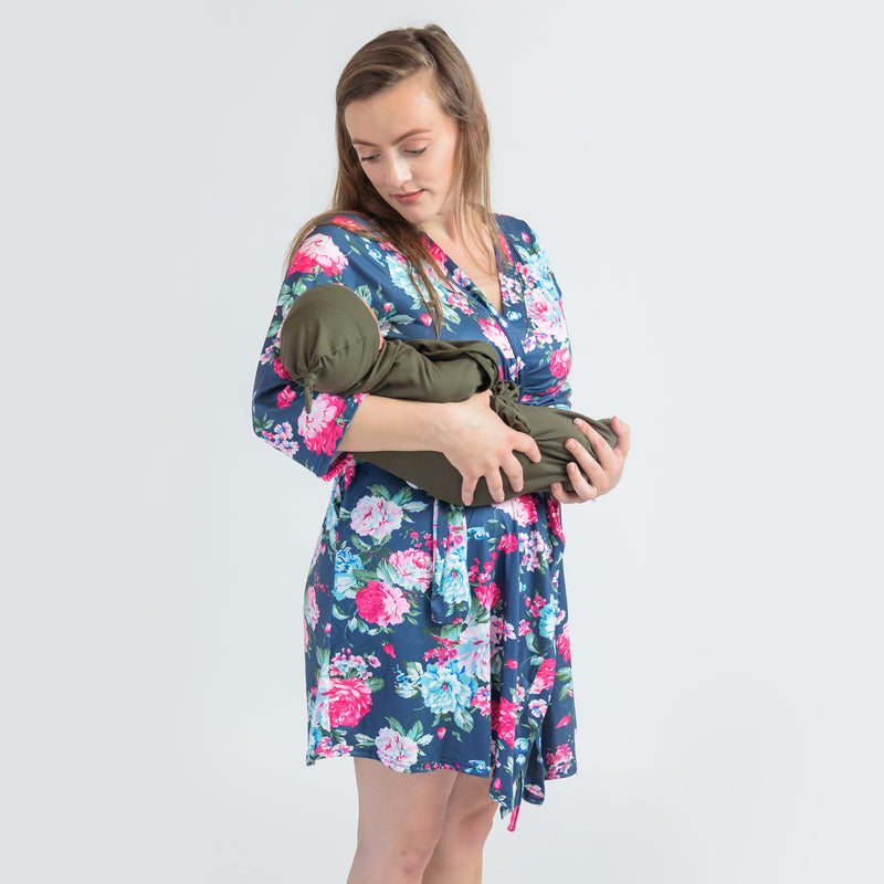 Cora + Green - Robe and Swaddle Set