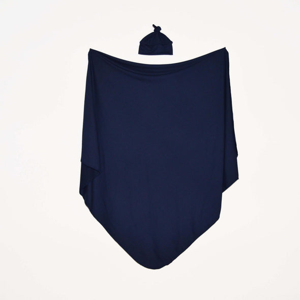 Navy Solid - Swaddle Blanket Set - Kins & Kay
