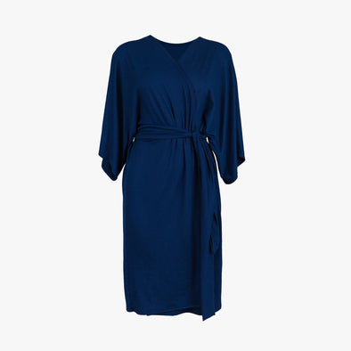 Navy Solid Robe - Maternity Robe