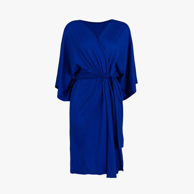 Royal Blue Solid Robe - Maternity Robe