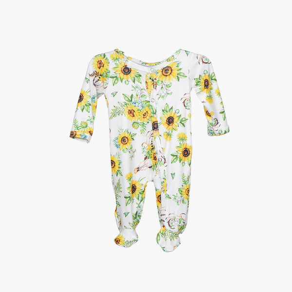 Sunflower - Footed Snap One Piece