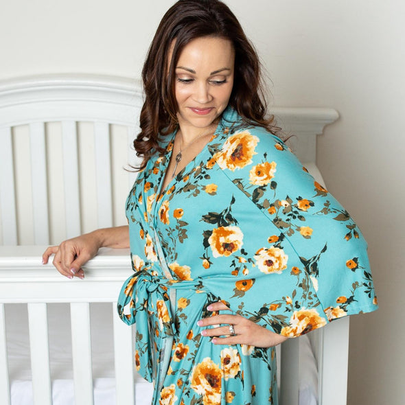 Claire - Maternity Robe - Kins & Kay