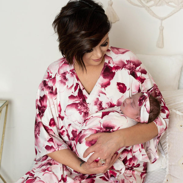Gwen - Robe and Swaddle Set - Kins & Kay
