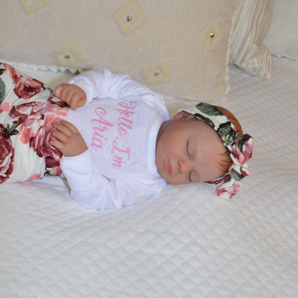 Allie - Baby Girl Coming Home Outfit - Kins & Kay