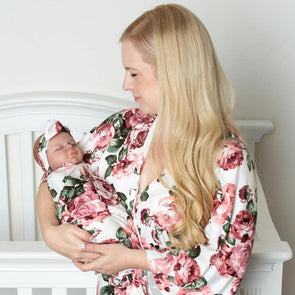 Allie - Robe and Swaddle Set - Kins & Kay