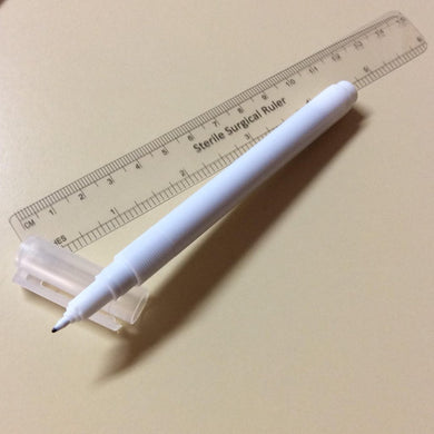 Skin Marking Pen with Ruler (Sterile Pack)
