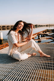 linen loungewear set australian made and owned