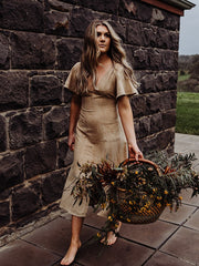 natural dye natural fibre hemp dress