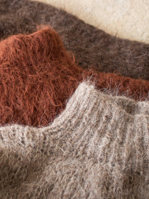 ethical merino knitwear earthy colours