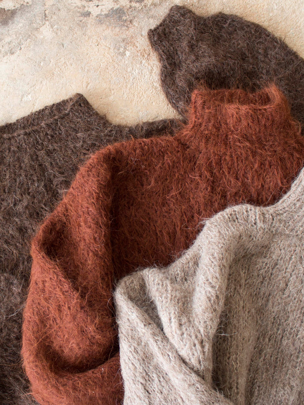 ethical alpaca knitwear earthy colour jumper