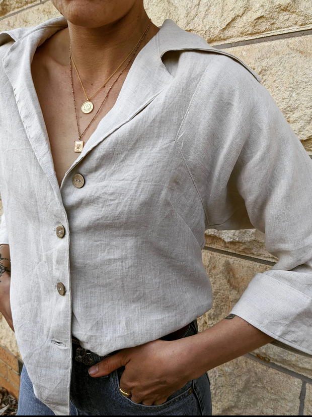 Hemp blouse sustainable Australian Fashion
