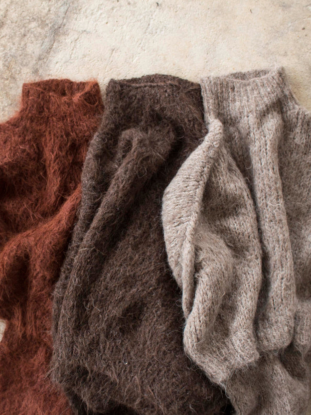 ethical knitwear earthy tones