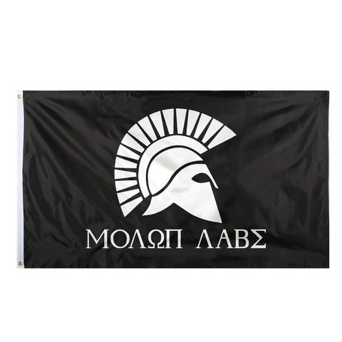 "Greek Spartan ""Molon Labe"" (Come and Take It!) Flag"