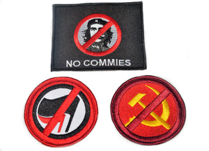 Anti Che/Anti-Communist/Marxist Embroidered Patch Set.