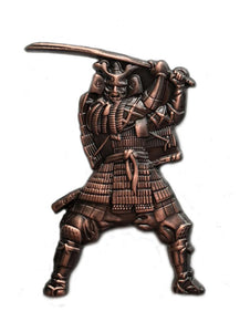 Japanese Samurai Warrior with Sword Brooch, Broach, Pin