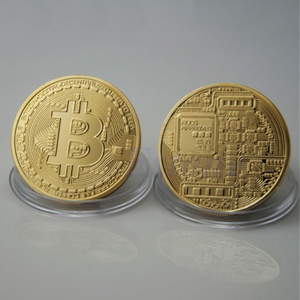 Gold-plated Iron Bitcoin Coin BTC Souvenir/Collectible