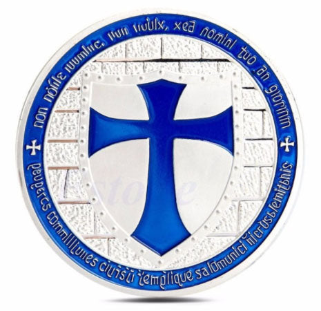 Commemorative Knights of the Templar Blue Cross Coin