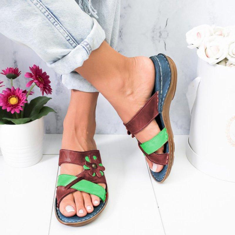 Womens Summer Floral Comfortable Sandals