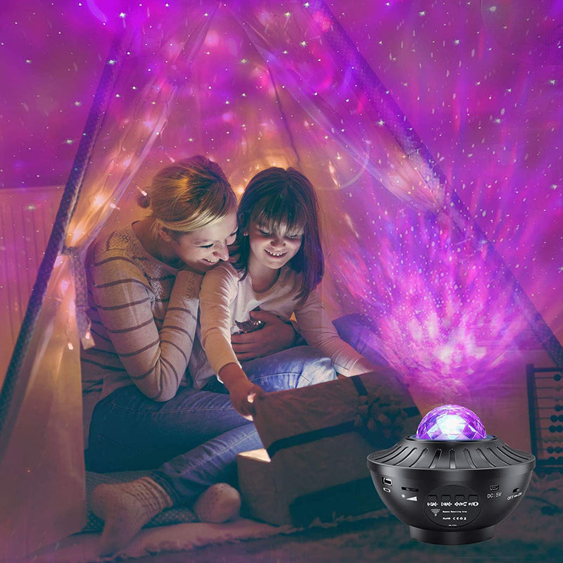 Starry Sky Night Light Projector with Bluetooth Music Speaker & Remote Control
