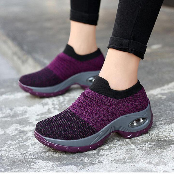 Slip-on Air Cushioned Knitted Shoe