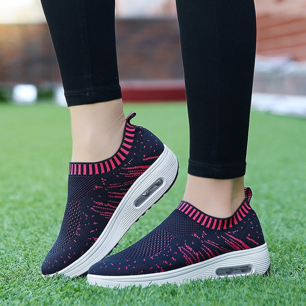 Slip-on Air Cushion Knitted Shoes