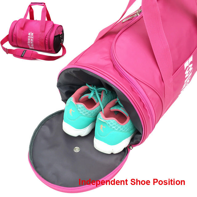 Womans Shoe Compartment Gym Bag