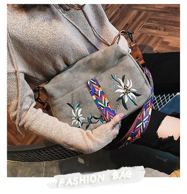 Floral Embroidery Handbag