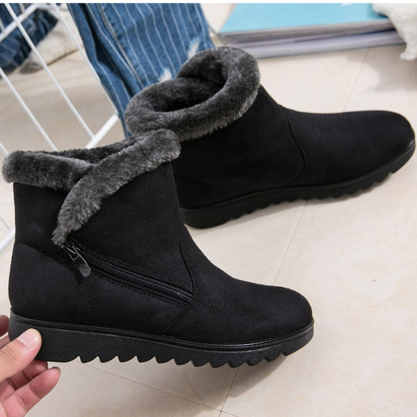 Plush High Ankle Snow Boots