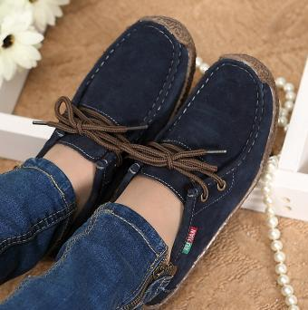 Casual Flats Woman Hand-sewn Suede Loafer
