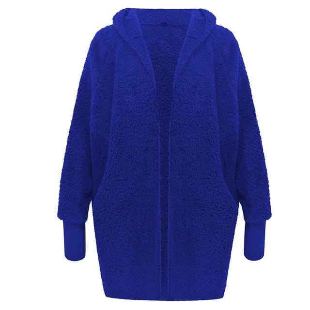 OPEN FRONT TEDDY JACKET