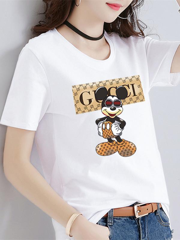Letter Print Mickey Cartoon T-Shirt