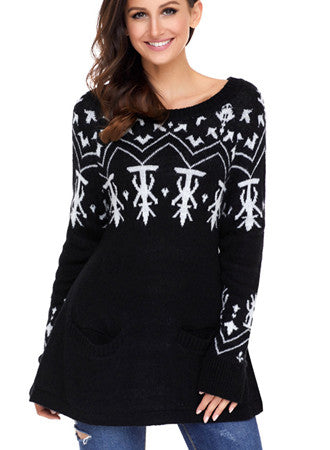 Printed Christmas sweater