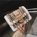 Chain magnetic buckle square bag fashion square bag
