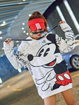 Cartoon printing fashion large size sweater