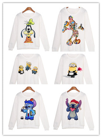 Cartoon long sleeve round neck sweater collection