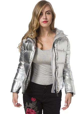 Wild metal color silver jacket|Hot sale ,Buy more save more