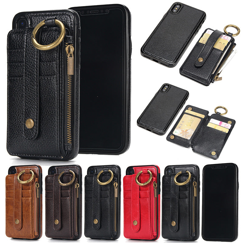 Card Slot Leather Phone Case For iPhone  5S SE 6 6S 7 8 plus X XS MAX XR