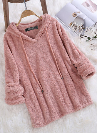 Comfy Solid color long sleeve Cashmere sweater