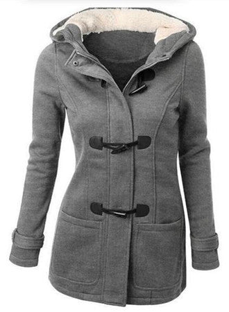 Winter Warm Claw Clasp Wool Blended Classic Pea Coat