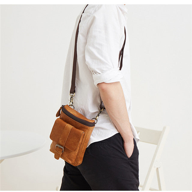 Multi-functional belt mobile phone crossbody bag for men